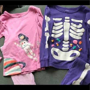 429bf3cf2524 Kids  Glow In Dark Skeleton Pajamas on Poshmark